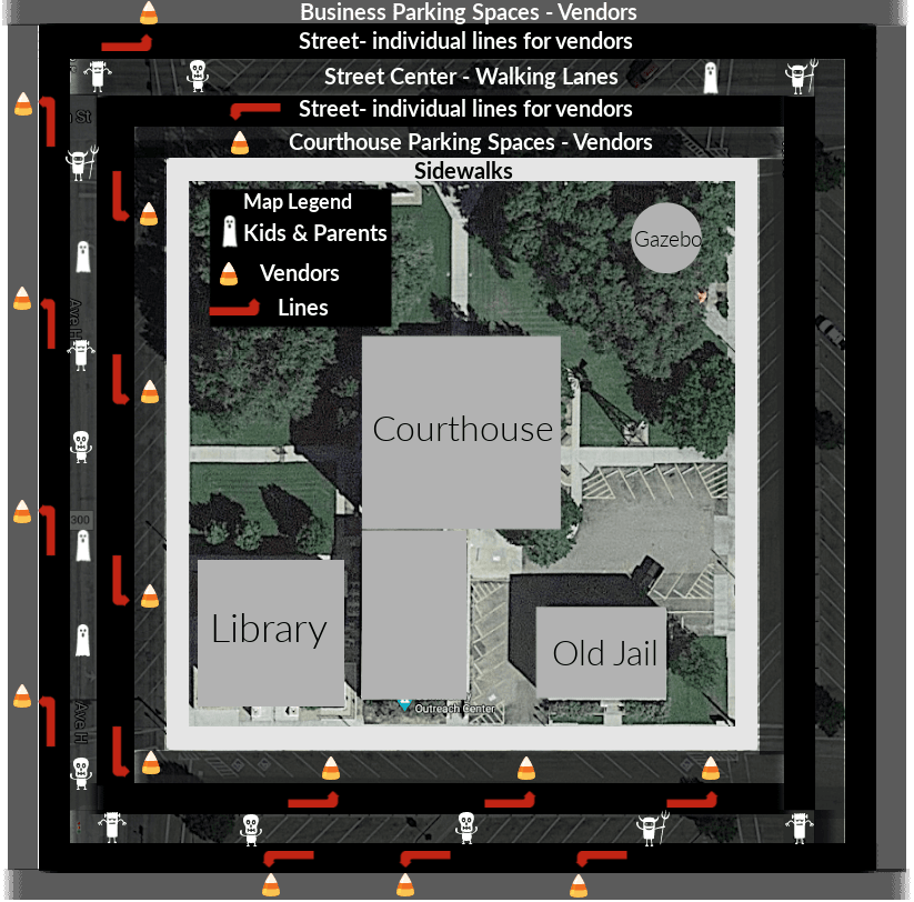 Trunk or Treat Map